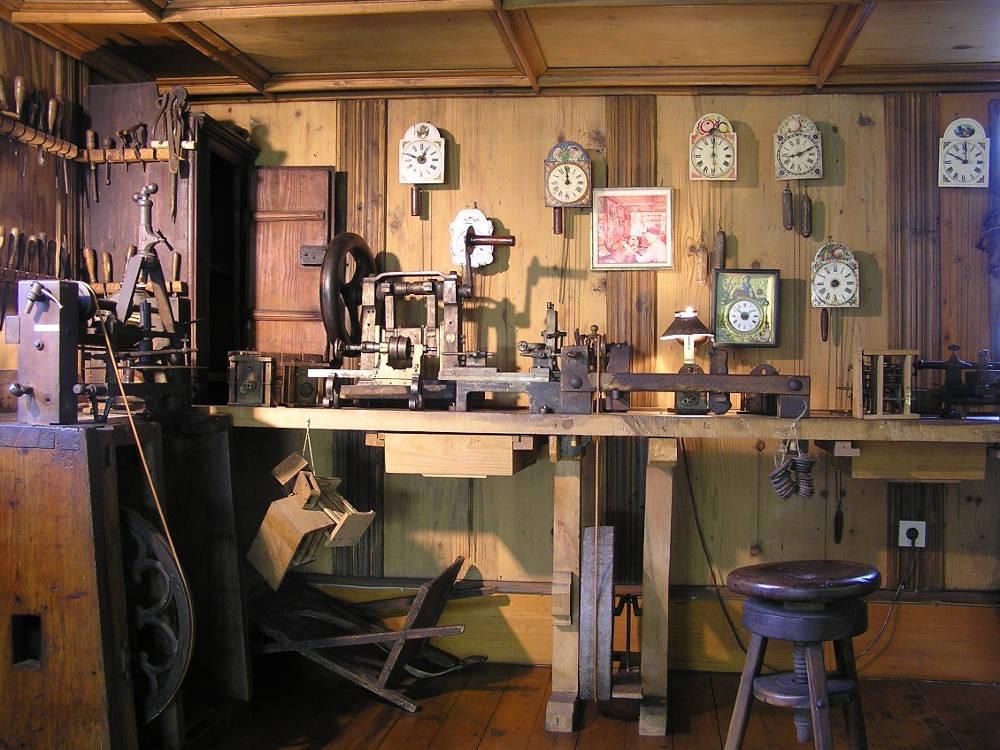 Heimat- und Uhrenmuseum, Schwenningen, Uhrmacherwerkstatt
