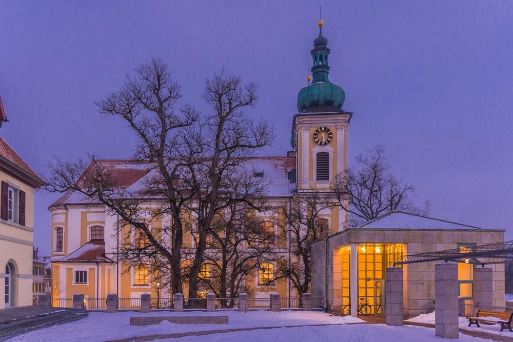 Städtische Galerie im Turm Donaueschingen Winter Abendstimmung