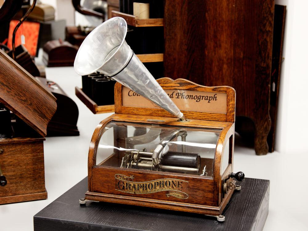 Deutsches Phonomuseum mit Uhrensammlung, St. Georgen, Grammophon